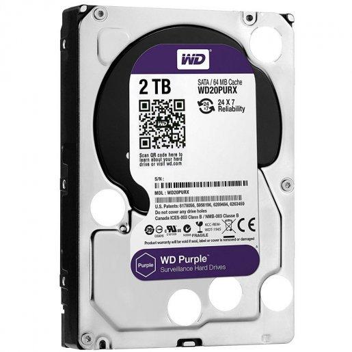 WD20PURZ Жесткий диск WesternDigital Purple 2TB WD20PURZ Накопители видеоархива Жесткие диски, 1994.00 грн.