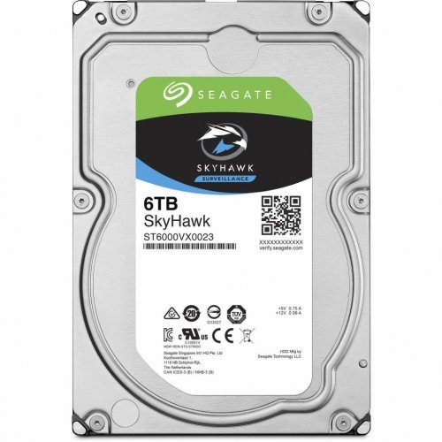 ST6000VX0023 Жесткий диск SeagateSkyHawk HDD 6TB ST6000VX0023 Накопители видеоархива Жесткие диски, 4896.00 грн.
