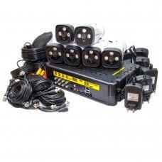 KIT-3MP-6CC Комплект видеонаблюдения на 6 камер 3 Мп Готовые комплекты Аналоговые комплекты видеонаблюдения, 3780.00 грн.