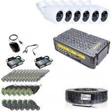 KIT-3MP-6CC Комплект видеонаблюдения на 6 камер 3 Мп Готовые комплекты Аналоговые комплекты видеонаблюдения, 6930.00 грн.