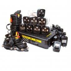 KIT-3MP-8CC Комплект видеонаблюдения на 8 камеры 3 Мп Готовые комплекты Аналоговые комплекты видеонаблюдения, 6075.00 грн.