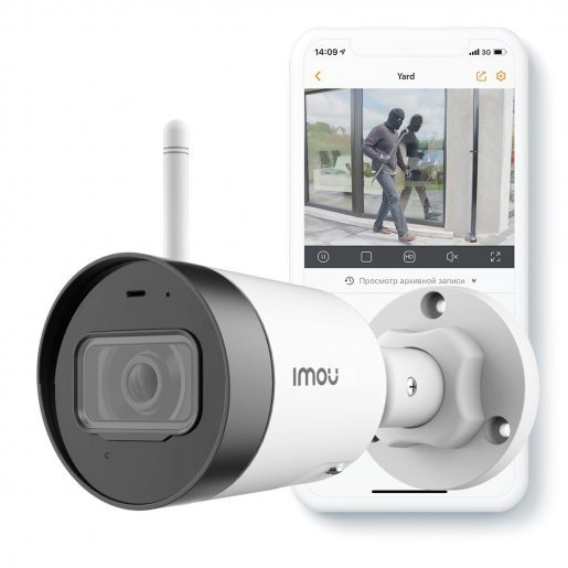 IPC-G42P 4 Мп уличная Wi-Fi видеокамера с микрофоном IMOU Dahua IPC-G42P Камеры IP камеры, 2408 грн.
