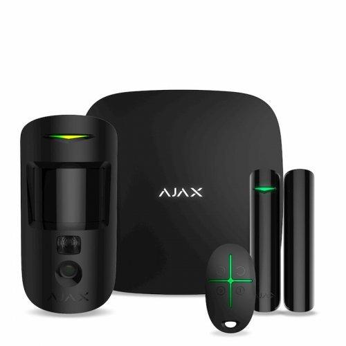 StarterKit Cam Ajax StarterKit Cam – cтартовый комплект системы безопасности с фотоверификацией тревог – черный Готовые комплекты сигнализаций Беспроводные комплекты, 9149 грн.