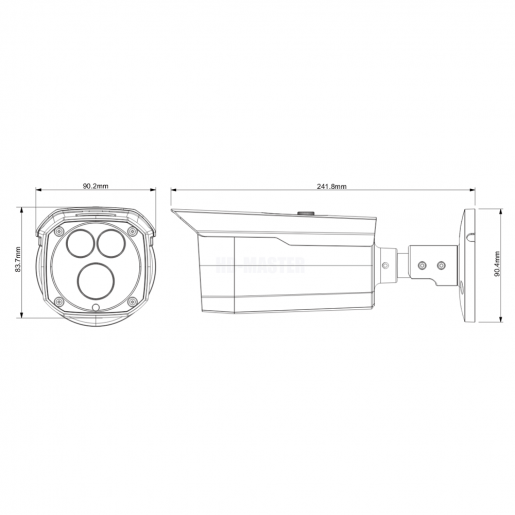 Уличная IP-камера Dahua DH-IPC-HFW4431DP-AS Камеры IP камеры, 4528.00 грн.