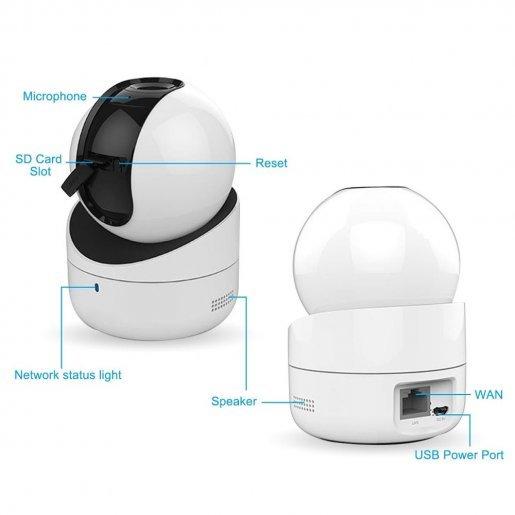 DS-2CV2Q01FD-IW Внутренняя IP-камера Hikvision DS-2CV2Q01FD-IW (PTZ 720P) Камеры IP камеры, 2156.00 грн.