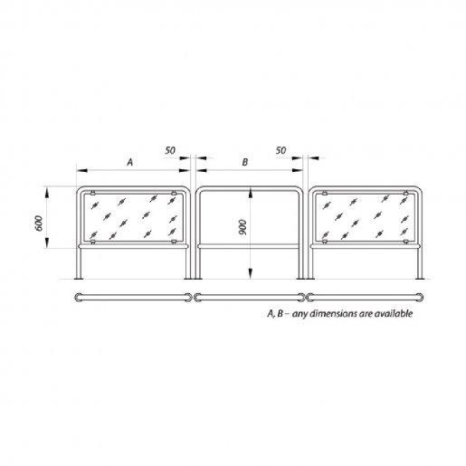 Ограждение Steelarm со стеклом / без стекла Турникеты Калитки и оборудование, 8666.00 грн.