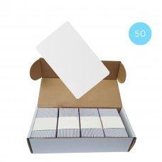 Набор 50 шт. Бесконтактная карта Tecsar Trek Mifare Classic 1K 0,8 мм белая Периферия Электронные ключи, 819.00 грн.
