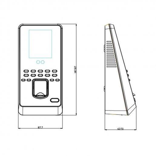 Биометрический терминал ZKTeco MultiBio800-H Биометрия Учет рабочего времени, 12985.00 грн.