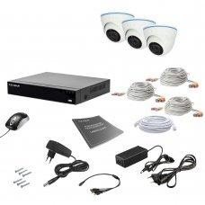Комплект видеонаблюдения Tecsar AHD 3IN 2MEGA Готовые комплекты Аналоговые комплекты видеонаблюдения, 5699.00 грн.