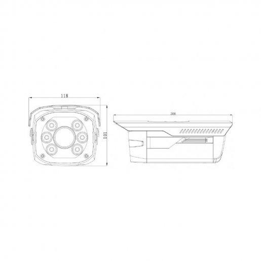Уличная IP-камера Dahua DH-IPC-HFW5200P-IRA Камеры IP камеры, 10916.00 грн.