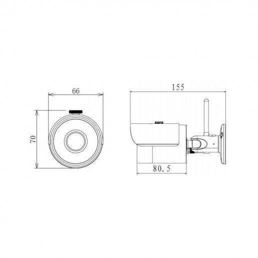 Уличная IP-камера Dahua DH-IPC-HFW1320S-W Камеры IP камеры, 2520.00 грн.