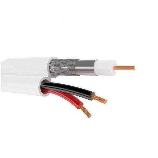 Кабель комбинированный, F5967BCu-2x0.75power, White (FinMark) Кабельная продукция Коаксиальный кабель, 12.00 грн.