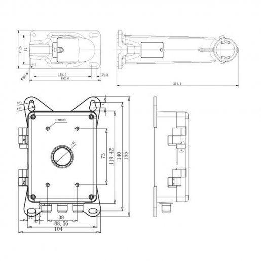 Кронштейн Hikvision DS-1602ZJ-BOX Комплектующие Кронштейны, 2070.00 грн.
