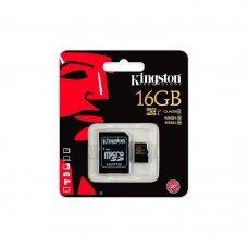 Карта памяти Kingston 16GB microSDHC C10 + SD адаптер (SDCA10/16GB) Накопители видеоархива SD-карты, 289.00 грн.