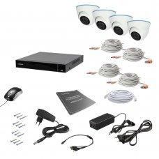 Комплект видеонаблюдения Tecsar AHD 4IN 8MEGA Готовые комплекты Аналоговые комплекты видеонаблюдения, 15211.00 грн.