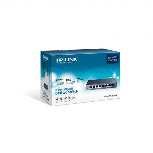 Коммутатор TP-Link TL-SG108 Сетевое оборудование Коммутаторы, 705.00 грн.