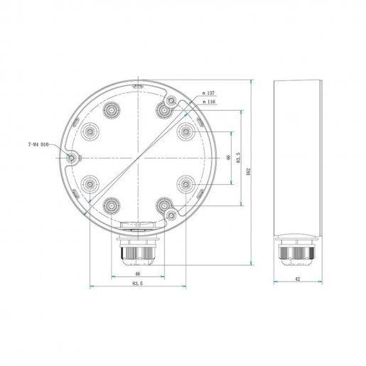 Коробка Hikvision DS-1280ZJ-DM21 Комплектующие Кронштейны, 728.00 грн.