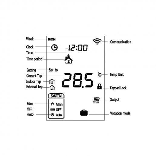 Термостат Z-wave настенный MCO Home MCOEMH7H-EH Умный дом Управление климатом, 4479.00 грн.