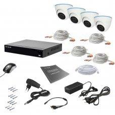 Комплект видеонаблюдения Tecsar AHD 4IN 2MEGA Готовые комплекты Аналоговые комплекты видеонаблюдения, 5949.00 грн.