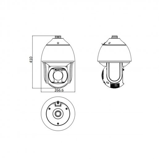 DS-2DF8225IX-AELW Speed Dome IP-камера Hikvision DS-2DF8225IX-AELW (PTZ 16x1080P) Камеры IP камеры, 42840.00 грн.