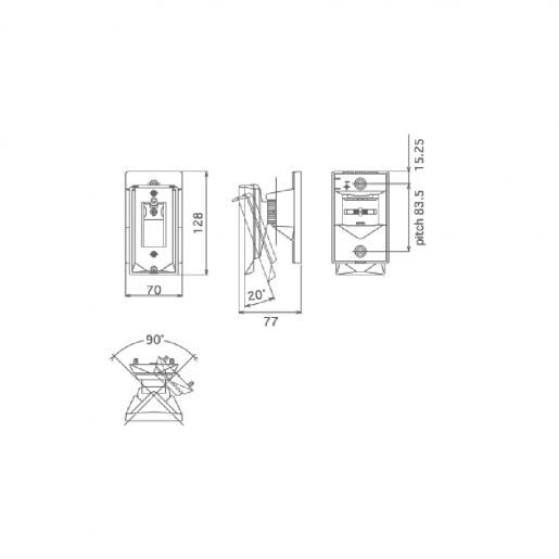 Кронштейн настенный для датчиков Optex CA-1W Периферия Аксессуары, 209.00 грн.
