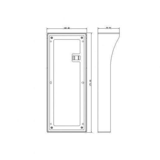 Бокс для врезного монтажа вызывных панелей Dahua DH-VTOB114 Видеодомофоны Модули, 1207.00 грн.