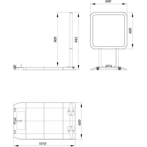 Мобильная платформа Steelarm FRAME-M Турникеты Калитки и оборудование, 10918.00 грн.