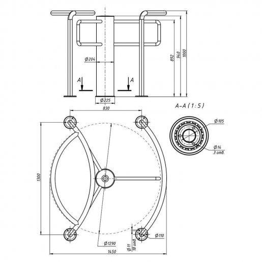 Полу-ростовой роторный турникет Steelarm Star-TS Турникеты Роторные, 89464.00 грн.