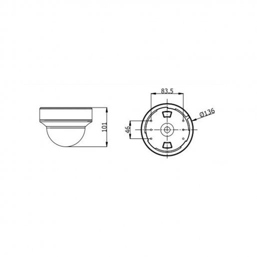 Купольная IP-камера Hikvision DS-2CD4125FWD-IZ (2.8-12) Камеры IP камеры, 9201.00 грн.