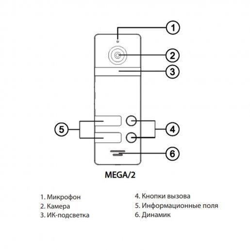 MEGA/2 Вызывная панель NeoLight MEGA/2 Вызывные панели Аналоговые панели, 2090.00 грн.