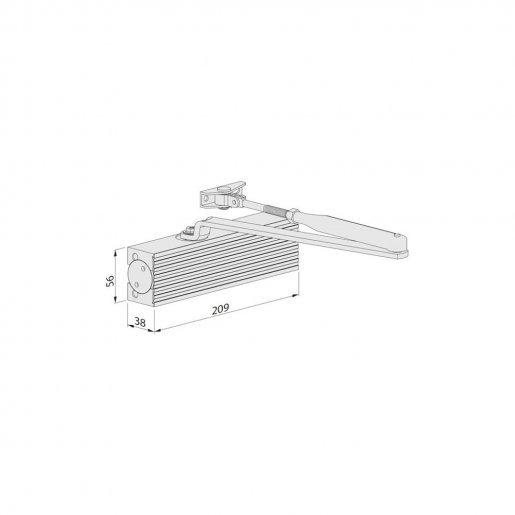 Доводчик дверной ECO-Schulte TS-15 ЕN 2/3/4/5 тяга с фиксацией Периферия Доводчики двери, 1771.00 грн.