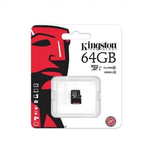 Карта памяти Kingston microSDXC 64GB Canvas Select Class 10 UHS-I U1 (SDCS/64GBSP) Накопители видеоархива SD-карты, 259.00 грн.