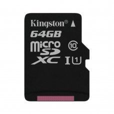 Карта памяти Kingston microSDXC 64GB Canvas Select Class 10 UHS-I U1 (SDCS/64GBSP) Накопители видеоархива SD-карты, 259.00 грн.