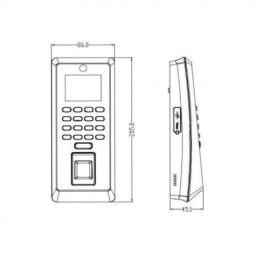 Биометрический терминал ZKTeco F21 Биометрия Учет рабочего времени, 10600.00 грн.