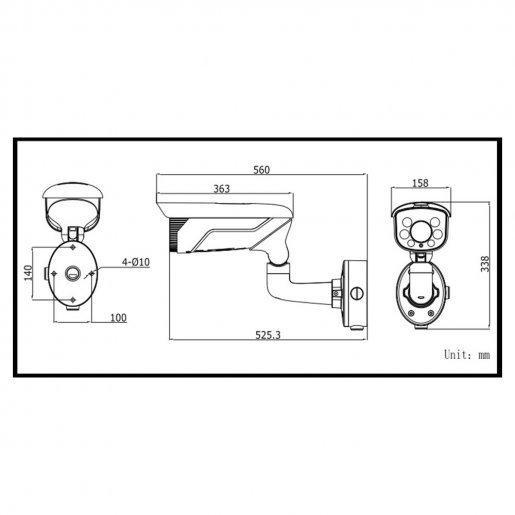 Уличная IP-видеокамера DarkFighter Hikvision DS-2CD4626FWD-IZ Камеры IP камеры, 26993.00 грн.