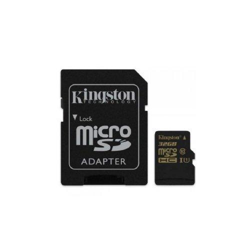 Карта памяти Kingston MicroSD 32GB Class 10 UHS-I + SD-adapter (SDCA10/32GB) Накопители видеоархива SD-карты, 424.00 грн.
