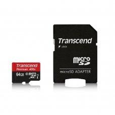 Карта памяти Transcend microSDXC 64GB Class 10 UHS-I Premium (TS64GUSDU1) + SD-adapter Накопители видеоархива SD-карты, 929.00 грн.