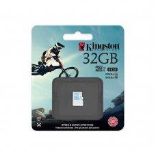 Карта памяти Kingston 32GB microSDHC C10 UHS-I U3 Action (SDCAC/32GBSP) Накопители видеоархива SD-карты, 545.00 грн.