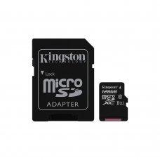 Карта памяти Kingston 128GB microSDXC C10 UHS-I + SD адаптер (SDC10G2/128GB) Накопители видеоархива SD-карты, 1639.00 грн.