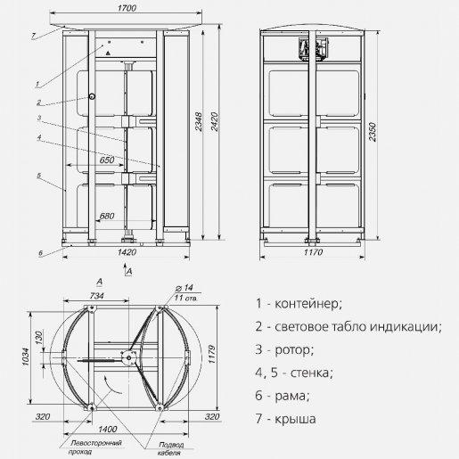 Полно-ростовой турникет Steelarm GlassGo Турникеты Полноростовые, 305916.00 грн.