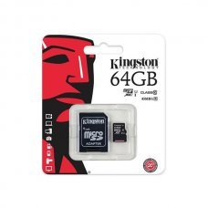 Карта памяти Kingston 64GB microSDXC C10 UHS-I + SD адаптер (SDC10G2/64GB) Накопители видеоархива SD-карты, 799.00 грн.