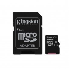 Карта памяти Kingston microSDXC 64GB Canvas Select Class 10 UHS-I U1 + SD-адаптер (SDCS/64GB) Накопители видеоархива SD-карты, 289.00 грн.