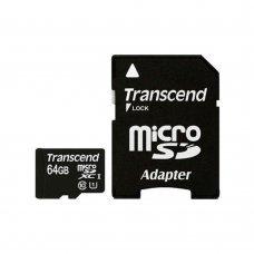 Карта памяти Transcend microSDXC 64GB Class 10 Premium + SD-adapter (TS64GUSDXC10) Накопители видеоархива SD-карты, 640.00 грн.
