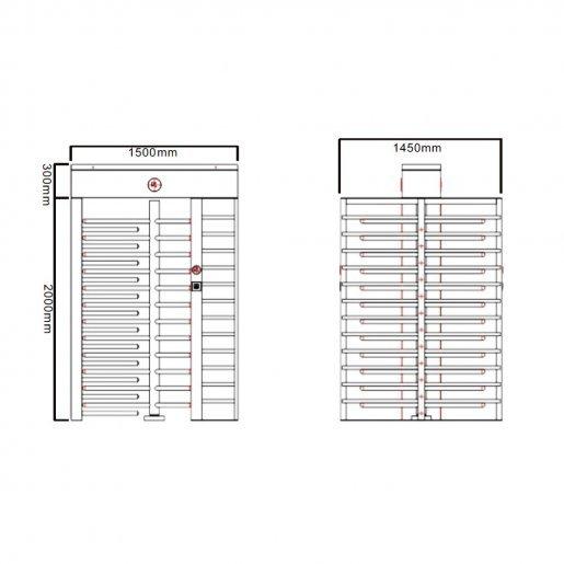 Полно-ростовой турникет Tecsar Trek TSG-FH401 Турникеты Полноростовые, 140428.00 грн.