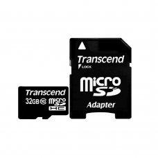 Карта памяти Transcend MicroSDHC 32GB Class 10 + SD-adapter (TS32GUSDHC10) Накопители видеоархива SD-карты, 449.00 грн.
