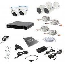 Комплект видеонаблюдения Tecsar AHD 4MIX 8MEGA Готовые комплекты Аналоговые комплекты видеонаблюдения, 15211.00 грн.