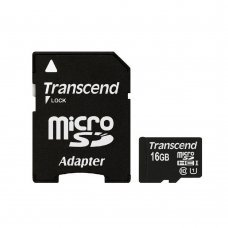 Карта памяти Transcend MicroSDHC UHS-I 16 GB Class 10 + SD-adapter (TS16GUSDU1) Накопители видеоархива SD-карты, 207.00 грн.