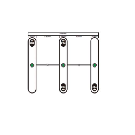 Полу-ростовой турникетTecsar Trek TSG-FW301DB Турникеты Freeway, 207697.00 грн.