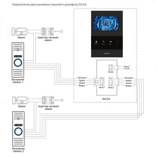 SQ-04 + IM-10 Комплект видеодомофона Slinex SQ-04 + IM-10 Готовые комплекты домофонов Аналоговые комплекты, 2548.00 грн.